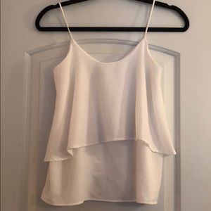 Paper Crane white tiered layer top size S